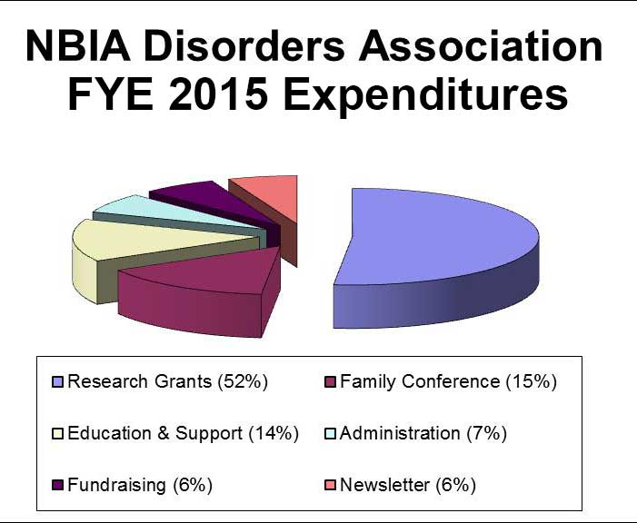 Pie chart of 2015 expenditures