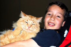 Aiden with His Cat
