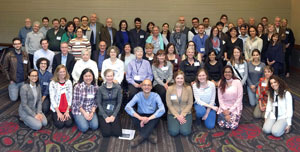 Group photo of symposium attendees