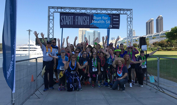 Group photo at finish line